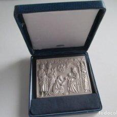 Medallas temáticas: PLACA DE PLATA * FELICITACION DE NAVIDAD 1996. Lote 194406745