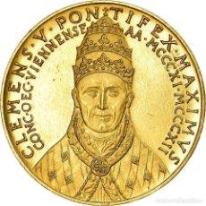 Medallas temáticas: VATICANO, MEDALLA, CLÉMENT V, RELIGIONS & BELIEFS, PAPE, EBC, ORO. Lote 194647661