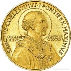 Medallas temáticas: VATICANO, MEDALLA, CÉLESTIN IER, RELIGIONS & BELIEFS, PAPE, EBC, ORO. Lote 194647725