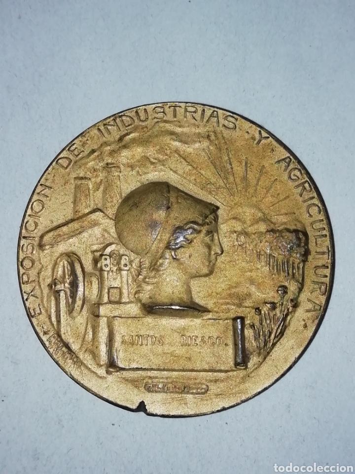 MEDALLA 1907. EXPOSICIÓN DE INDUSTRIAS Y AGRICULTURA, MADRID. (Numismática - Medallería - Temática)