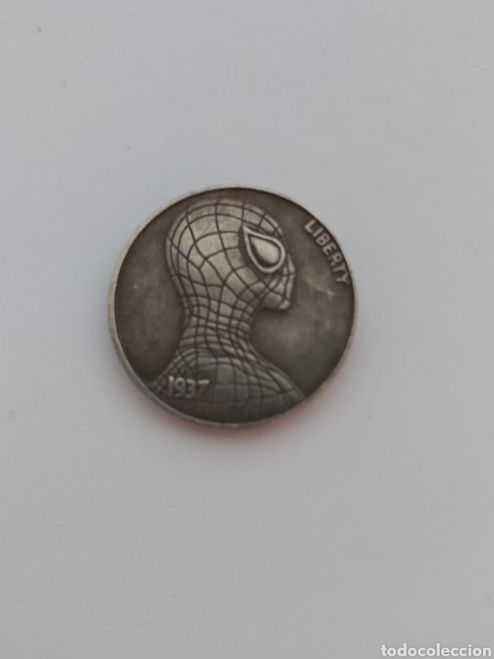 CURIOSA MONEDA DE SPIDERMAN (Numismática - Medallería - Temática)