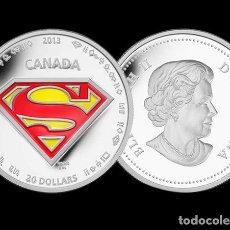 Medallas temáticas: MEDALLA EN PLATA HOMENAJE AL 75 ANIVERSARIO DEL SUPERHEROE SUPERMAN - EL HOMBRE DE ACERO - COMIC #2. Lote 194898755