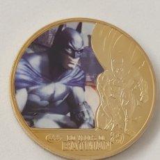 Medallas temáticas: FANTÁSTICA MONEDA DE ORO DE COLECCION DE BATMAN. Lote 194914225