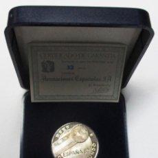Medallas temáticas: REAL FEDERACION ESPAÑOLA DE FUTBOL. MEDALLA DE PLATA. COPA DEL MUNDO. ESPAÑA 82. LOTE 0105. Lote 194915213