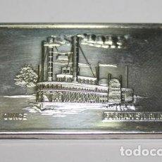 Medallas temáticas: 85,, LINGOTE DE EE. UU. 1 ONZA TROY DE PLATA 999, GORHAM STERLING, LIMITED EDITION OF 10.000. Lote 194943388
