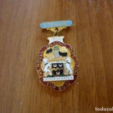 Medallas temáticas: MEDALLA MASÓNICA INGLESA THE ROYAL MASONIC INSTITUTION FOR BOYS. STEWARD. 1956. Lote 195063132