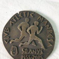Medallas temáticas: CLUB ATLETIC MANRESA. Lote 195067261
