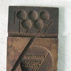 Medallas temáticas: CLUB ATLETISMO MANRESA. Lote 195067478