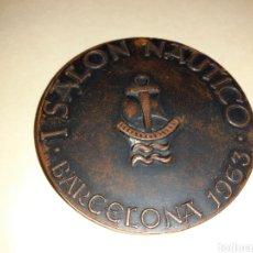 Medallas temáticas: MEDALLA 1 SALÓN NÁUTICO BARCELONA CON AGUJERO. Lote 195173135