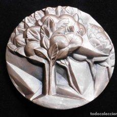 Medallas temáticas: MEDALLA BRONCE FNMT, NARANJOS ENCENDIDOS CON SUS FRUTOS REDONDOS Y BERMEJOS. Lote 195368605