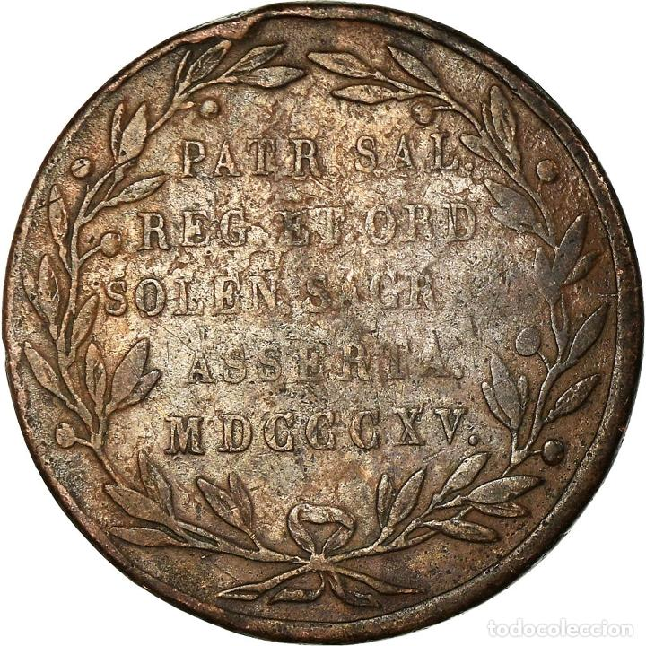 Medallas temáticas: Bélgica, medalla, William I, Grand Duke of Luxembourg, 1815, BC+, Cobre - Foto 2 - 195369753