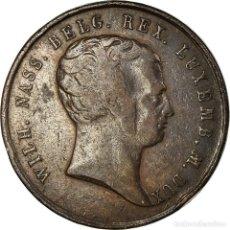 Medallas temáticas: BÉLGICA, MEDALLA, WILLIAM I, GRAND DUKE OF LUXEMBOURG, 1815, BC+, COBRE. Lote 195369753