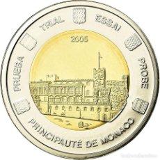 Medallas temáticas: MÓNACO, MEDALLA, ESSAI 2 EUROS, 2005, FDC, BIMETÁLICO. Lote 195394425