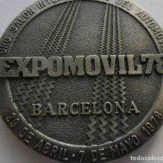 Medallas temáticas: 27,, RARA MEDALLA ORG. SALON INTERNACIONAL DEL AUTOMOVIL 78 BARCELONA 29 DE ABRIL.7 DE MAYO 1978. Lote 195413841