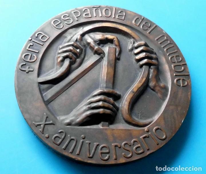 FERIA ESPAÑOLA DEL MUEBLE, X ANIVERSARIO, 1963 VALENCIA 1973 (Numismática - Medallería - Temática)