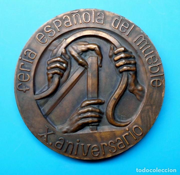 Medallas temáticas: FERIA ESPAÑOLA DEL MUEBLE, X ANIVERSARIO, 1963 VALENCIA 1973 - Foto 3 - 195416472