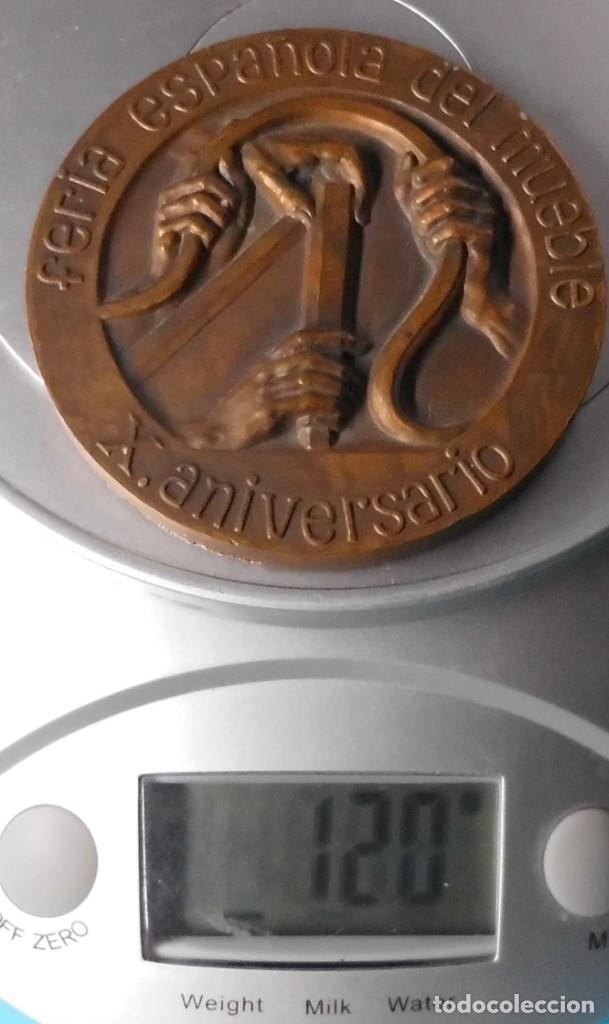 Medallas temáticas: FERIA ESPAÑOLA DEL MUEBLE, X ANIVERSARIO, 1963 VALENCIA 1973 - Foto 6 - 195416472