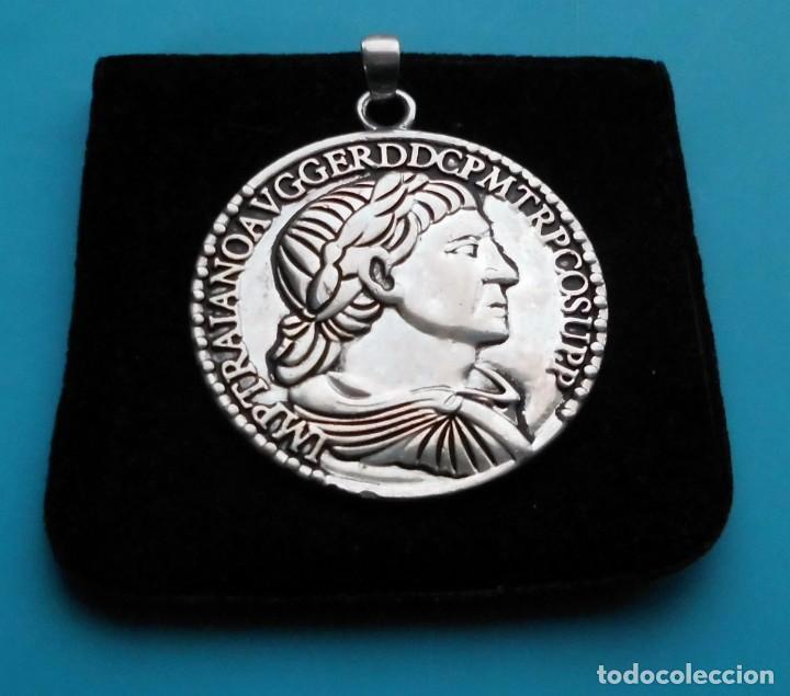 Medallas temáticas: MEDALLON REPLICA MONEDA ROMANA EPOCA TRAJANO - Foto 4 - 195429792