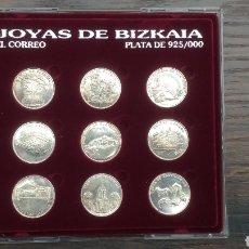 Medallas temáticas: JOYAS DE BIZKAIA COLECCIÓN EL CORREO PLATA VIZCAYA. Lote 195434248