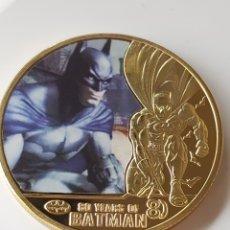 Medallas temáticas: EXCLUSIVA MONEDA DE ORO DE COLECCION DE BATMAN - EDICIÓN LIMITADA -. Lote 195505566