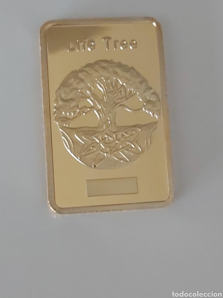 PRECIOSO LINGOTE DE ORO CON EL ARBOL DE LA VIDA (Numismática - Medallería - Temática)