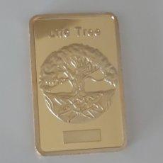 Medallas temáticas: PRECIOSO LINGOTE DE ORO CON EL ARBOL DE LA VIDA. Lote 195506542