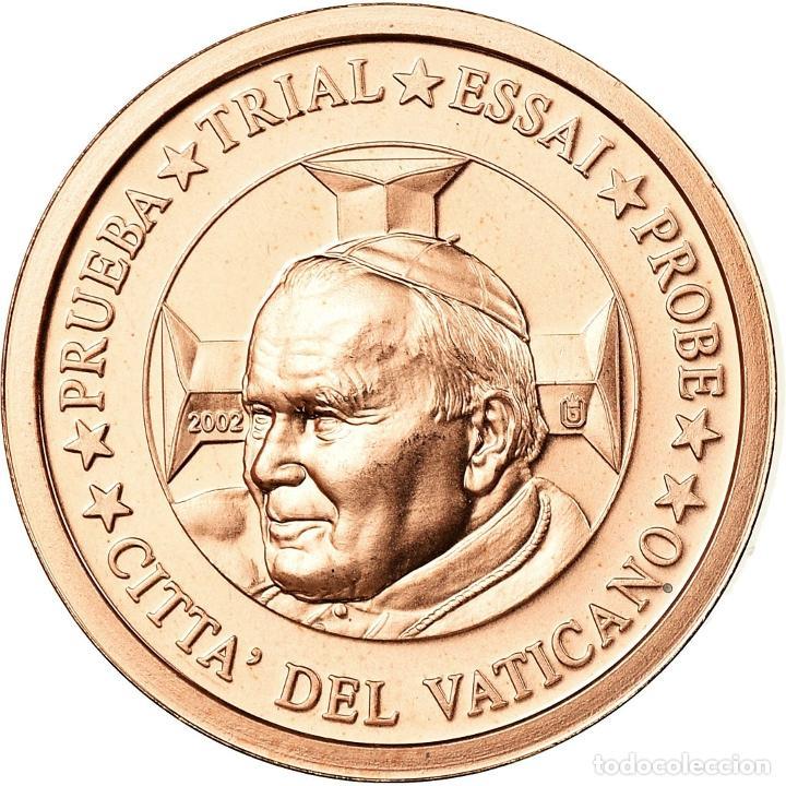 VATICANO, MEDALLA, 2 C, ESSAI-TRIAL JEAN PAUL II, 2002, FDC, COBRE (Numismática - Medallería - Temática)