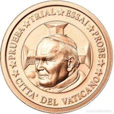 Medallas temáticas: VATICANO, MEDALLA, 2 C, ESSAI-TRIAL JEAN PAUL II, 2002, FDC, COBRE. Lote 195512385