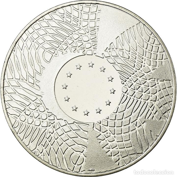 LUXEMBURGO, MEDALLA, ETATS-UNIS D'EUROPE, FDC, BRONCE PLATEADO (Numismática - Medallería - Temática)