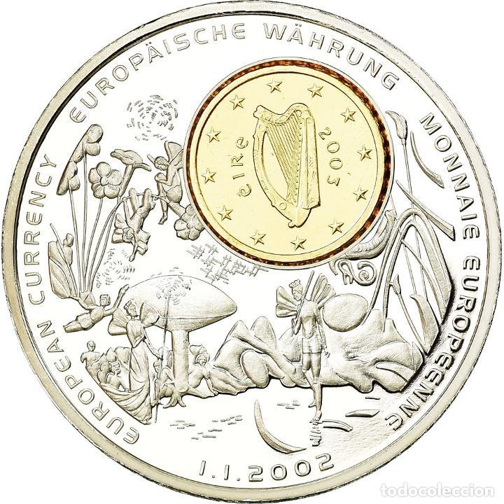 IRLANDA - EIRE, MEDALLA, MONNAIES EUROPÉENNES, 2002, FDC, COPPER PLATED SILVER (Numismática - Medallería - Temática)