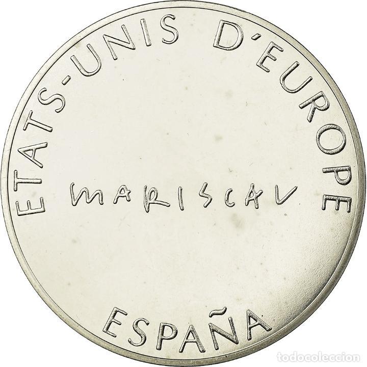 Medallas temáticas: España, medalla, Etats-Unis dEurope, FDC, Bronce plateado - Foto 2 - 195515402