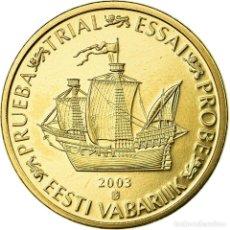 Medallas temáticas: ESTONIA, MEDALLA, 20 C, ESSAI-TRIAL, 2003, FDC, LATÓN. Lote 195512378