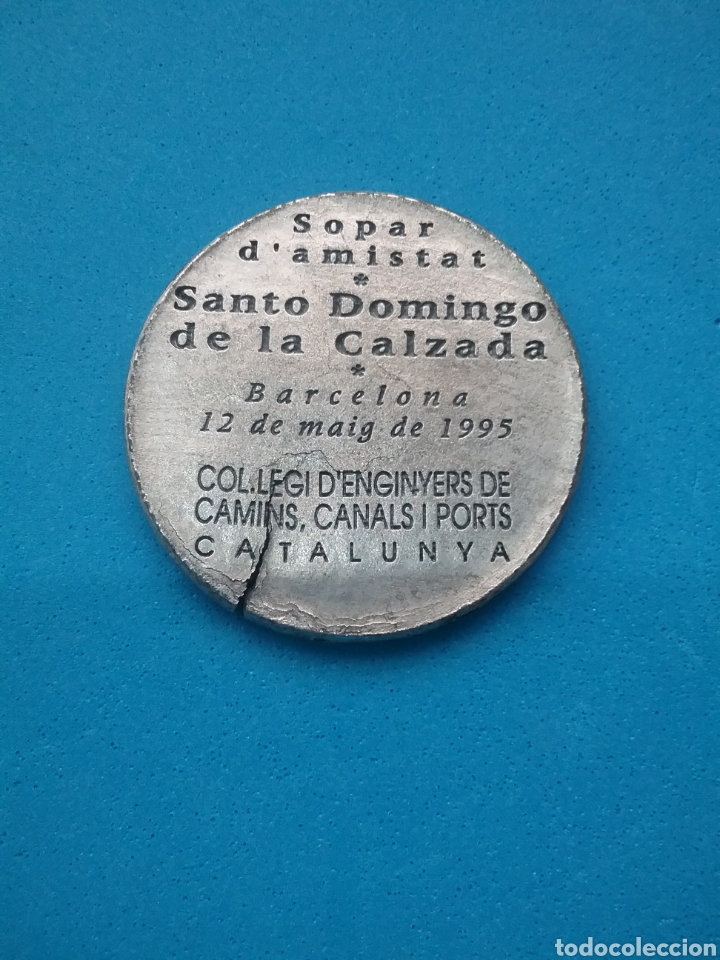 MEDALLA COL.LEGIS D'ENGINYERS DE CAMINS, CANALS I PORTS CATALUNYA. 1995. (Numismática - Medallería - Temática)