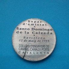 Medallas temáticas: MEDALLA COL.LEGIS D'ENGINYERS DE CAMINS, CANALS I PORTS CATALUNYA. 1995.. Lote 195814461