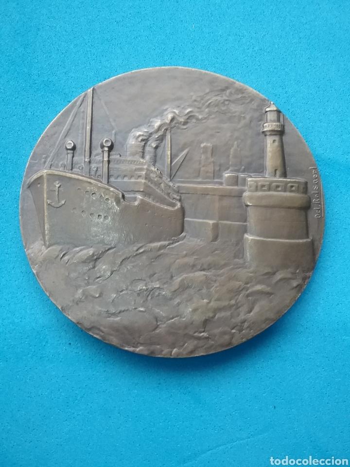 MEDALLA DE BRONCE ZEEBRÜGGE. ROLSAERL 1960 (Numismática - Medallería - Temática)
