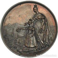 Medallas temáticas: MEDALLA COBRE ISABEL II.1836. A LA INVICTA BILBAO. Lote 196211051