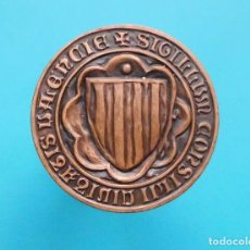 Medallas temáticas: MEDALLA REPRODUCCIÓ D' UN SEGELL DEL CONSELL DE LA CIUTAT DE VALÉNCIA, INSTITUTO OBRERO. Lote 196230355