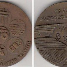 Medallas temáticas: 2 MEDALLAS: CTNE ( TELEFONICA ) 1971-1975. Lote 196508761