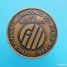 Medallas temáticas: MEDALLA FERIA INTERNACIONAL DEL MUEBLE XX ANIVERSARIO, 1963 - 1983. Lote 196547900