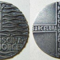 Medaglie tematiches: MEDALLA DE PLATA PISCINA SAN JORGE INAGURACIÓN BARCELONA JUNIO 1966 PLATA 40,40 GR. Lote 197063058