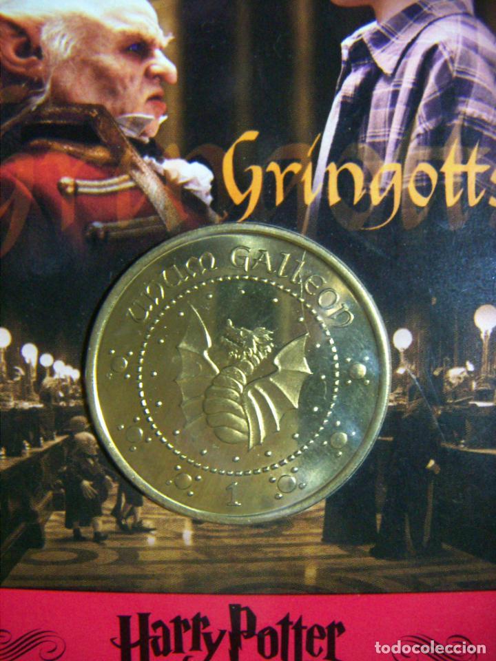 Medallas temáticas: MEDALLA MONEDA UNUM GALLEON DE HARRY POTTER - BANK GRINGOTTS EN SU BLISTER ORIGINAL - Foto 2 - 197133838