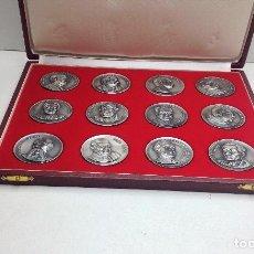 Medallas temáticas: COLECCION DE 12 MEDALLAS DIFERENTES TEMAS Y PERSONAJES - FIRMADAS PUJOL. Lote 197552235