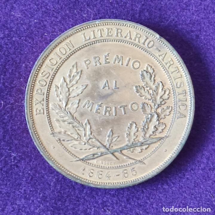 Medallas temáticas: RARA MEDALLA DE ASOCIACION DE ESCRITORES Y ARTISTAS ESPAÑOLES. MADRID. PREMIO AL MERITO 1884-85. - Foto 2 - 197712726