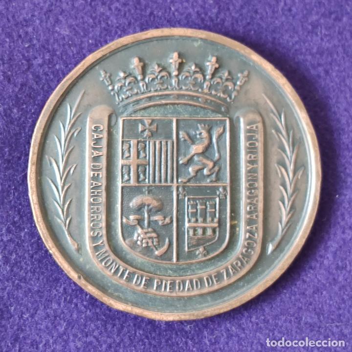 MEDALLA DE V SEMANA DE LA JUVENTUD. CALAHORRA. 1972. CAJA DE AHORROS DE ZARAGOZA, ARAGON Y RIOJA. (Numismática - Medallería - Temática)