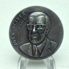 Medallas temáticas: MEDALLA JOAN OLIVER - PERE QUART - DESEMBRE 1981 - FIRMA PUJOL. Lote 197854723