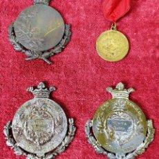 Medallas temáticas: 4 MEDALLAS AL MÉRITO ESCOLAR. METAL. ESPAÑA. CIRCA 1919. Lote 198029651