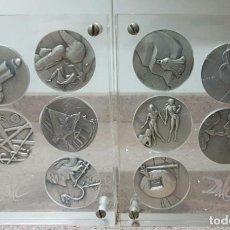 Medallas temáticas: MEDALLAS LOS 10 MANDAMIENTOS DE SALVADOR DALÍ. Lote 198409801