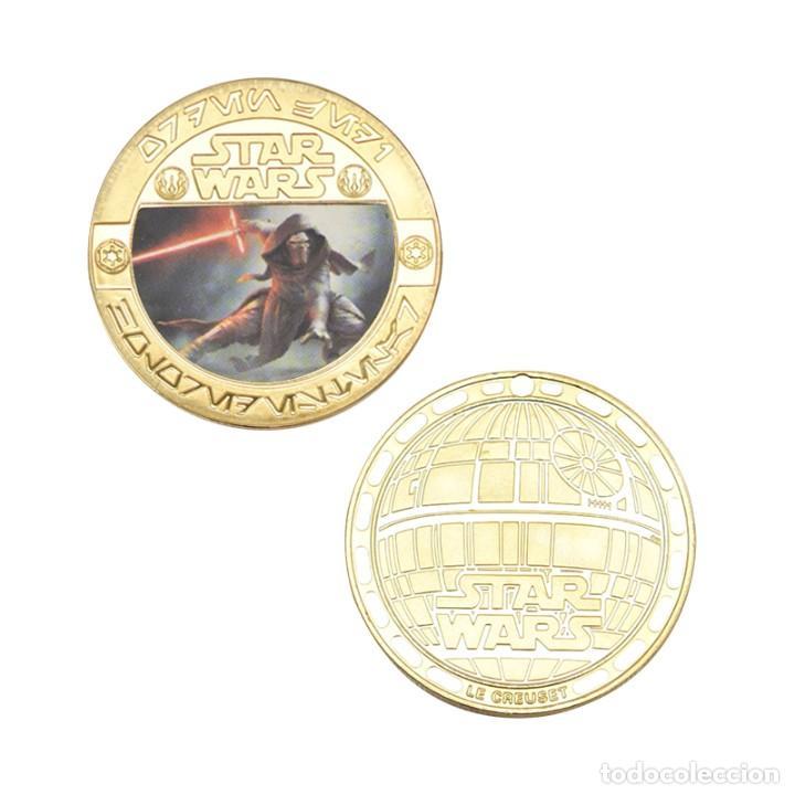 Medallas temáticas: ESTUPENDA COLECCIÓN DE 5 MONEDAS DE STAR WARS EN ESTUCHE DE TERCIOPELO. - Foto 7 - 210673136