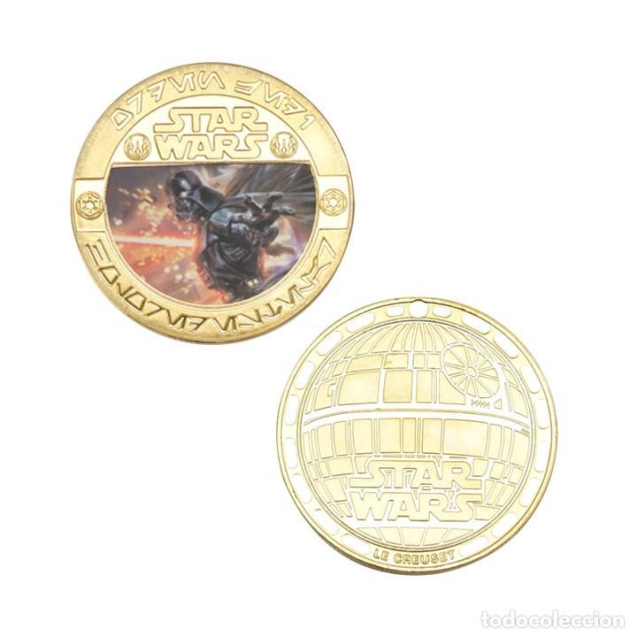 Medallas temáticas: ESTUPENDA COLECCIÓN DE 5 MONEDAS DE STAR WARS EN ESTUCHE DE TERCIOPELO. - Foto 8 - 210673136