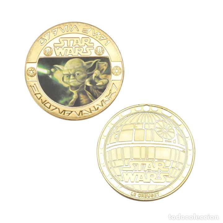 Medallas temáticas: ESTUPENDA COLECCIÓN DE 5 MONEDAS DE STAR WARS EN ESTUCHE DE TERCIOPELO. - Foto 6 - 210673136